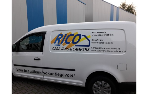 Belettering VW Caddy Rico Recreatie