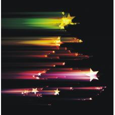 """Kerstkaart """"Kerstboom sterren"""""""