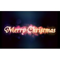"""Kerstkaart """"Merry Christmas"""""""