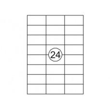Etiketten 70 x 37 mm (24 per vel)