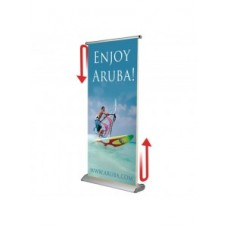 Roterende Roll-up banner 100 x 400 cm (2 x 200 cm)